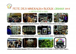 FETE DES MINERAUX & BIJOUX DE L'OISANS - 1er WE MAI 2016 - Expos