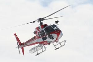 Survol des sites miniers en hélicoptère
