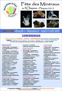 Web Conférences de la FETE DES MINERAUX DE L'OISANS