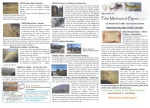 survols sites miniers FETE MINERAUX & BIJOUX OISANS 2016